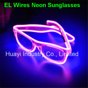 EL Wires Light up Illuminated Clear Lens Sunglasses pictures & photos