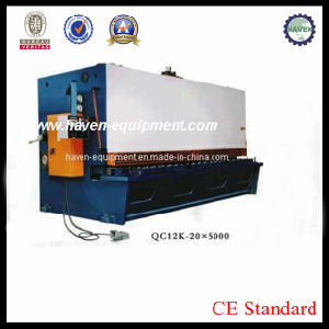QC12K-20X5000 CNC Hydraulic Swing Beam Steel Plate Shearing Machine pictures & photos