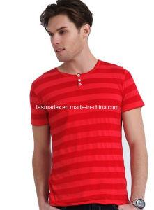 T-Shirts Striped Round-Collar