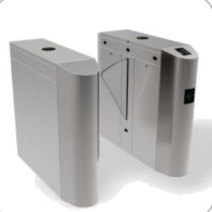 Biometric Barcode Scanner Wing Turnstile Gate, RFID Access Control Turnstiles