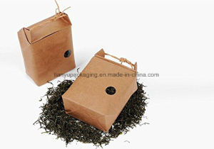Pack Nature Kraft Paper Food Carrier Bag Stand up Bakery Pouchwindow & Knitting Cord for Tea Leaves Rice Specialty Nuts Gifts pictures & photos