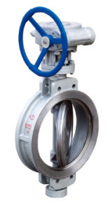 D373h/F/X-10/16/25c Triple Eccentric Worm Gear Driven Wafer Type Butterfly Valve pictures & photos