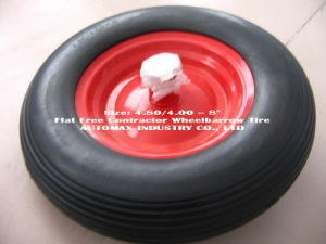 "4.80/4.00-8"" Flat Free Contractor Wheelbarrow Tire pictures & photos"