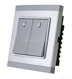 Wireless Remote Controlling Switch (2-gang single wire remote control switch) pictures & photos