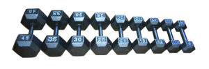 Grey Hex Dumbbell (022100)