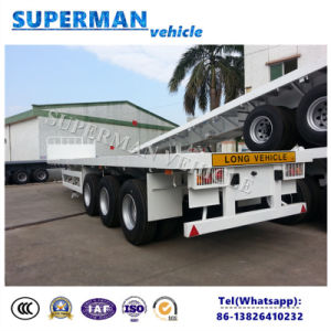 40FT Utiliy Container Flatbed Cargo Truck Trailer for Sale pictures & photos