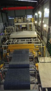 Water Jet Cutting Vehicle Carpet Production Line pictures & photos