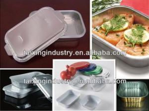 A8011-O White Coated Aluminum Foil for Airline Food Container