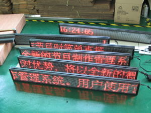 P7.62 Single Color LED Board for Advertising LED Sign Board pictures & photos