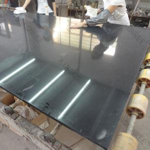 20mm Sparklig Black Quartz Stone Slab for Kitchen Top (KKR-Q1711062) pictures & photos