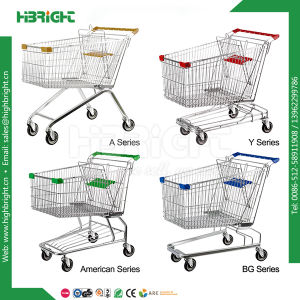 Supermarket Metal Shopping Cart Trolley pictures & photos