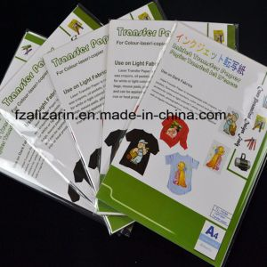 A4 Iron on Light Laser Heat Transfer Paper for Textiles pictures & photos