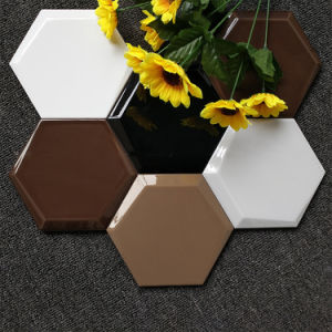 150X173X87 Colorful Hexagonal Porcelain Glossy Glazed Ceramic Bread Look Wall Floor Tile for Restaurant (SM1715800) pictures & photos