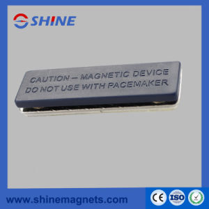 Plastic Metal Badge Permanent Nedymium Magnet Embeded pictures & photos