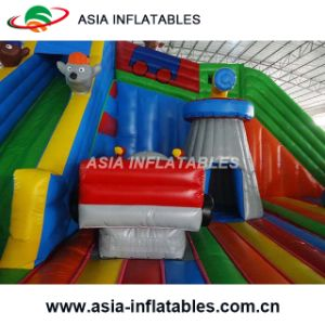 New Design Inflatable Car Bouncy Castle with Slide Comboo pictures & photos