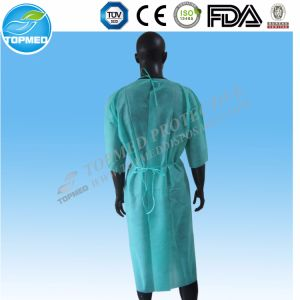 Disposable Medical Hospital Gown, SMS Gown, Yellow Isolation Gown pictures & photos