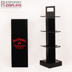 Mini Beer Bottle Rack Counter-Top Acrylic Wine Display Stand in Black pictures & photos