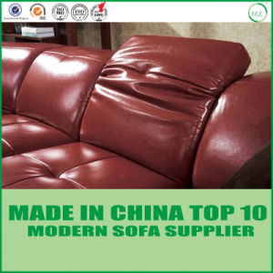 Modern U Shape Mahogany Leather Sectional Sofa pictures & photos