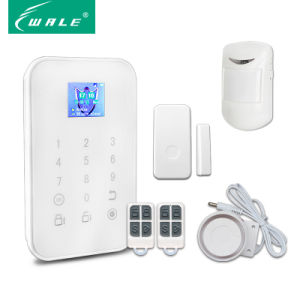Home Wireless Cid GSM Security Alarm System with TFT Panel pictures & photos