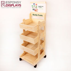 Supermarket Retail Floor Stand Store Display Shelves Fruits and Vegetable Display pictures & photos
