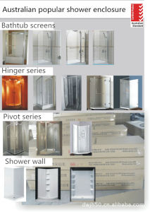 China Square Corner Open Door Way Shower Enclosure (Australian standrad) pictures & photos