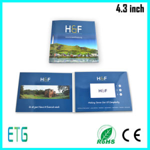 Custom Design 4.3 Inch LCD Screen Promotion Video Invitation Book pictures & photos