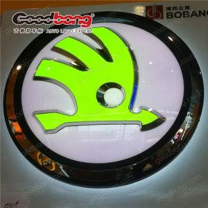 White Acrylic Sign Box LED Car Logo Advertising pictures & photos