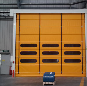 Interior Fire Rated Automatic PVC High Speed Stacking Door pictures & photos