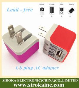 Hot Selling Colorful Folding Plug USB Home/Wall Charger pictures & photos
