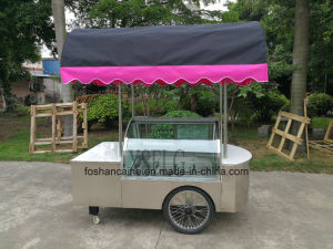 Gelato Vending Cart with Wheels / Beach Trolley Cart/Ice Cream Display Showcase Freezers (CE approved) pictures & photos