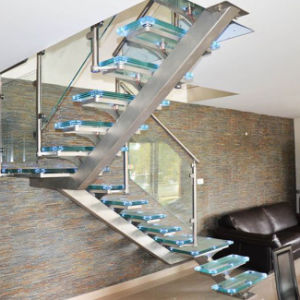Stainless Steel Staircase with Glass Step (PR-L15) pictures & photos