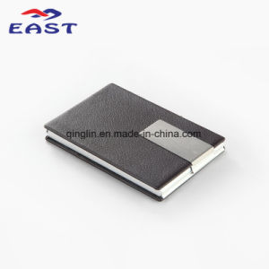 Promotional PU Metal Business Card Case with Custom Logo pictures & photos