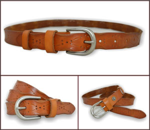 Cut out Design Leather Belt for Ladies pictures & photos