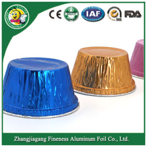 Disposable Aluminum Foil Egg Tart and Muffin Container pictures & photos