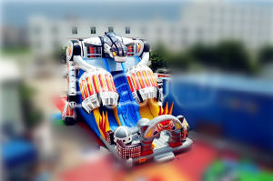 Best Quality Commercial Inflatable Robot Double Slide with Climbing pictures & photos