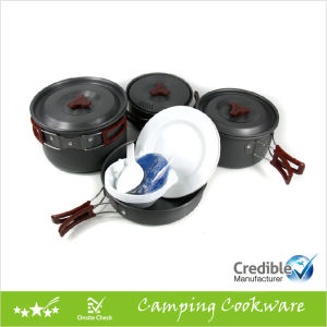 Portable Camping Cookware Set for 4-5 Persons pictures & photos
