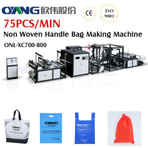 Non Woven Handle Bag Making Machine with Online Handle Attach pictures & photos
