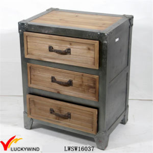 Unique Living Room Organizer Antique Wood 3-Drawers Storage Cabinet pictures & photos