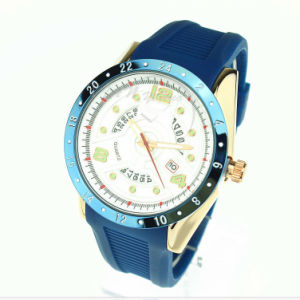 Quartz Movement Silicon Strap Alloy Case Silicon Watch