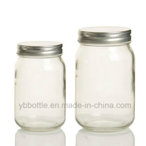 12oz/380ml 16oz/520ml 26oz/780ml Round Glass Mason Jars with Gold/Silver/White/Black Metal Lids