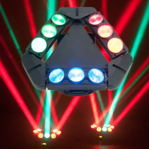 Guangzhou Baiyun District Hot Sale 9PCS 12W RGBW 4in1 CREE Infinite Rotating LED Spider Beam Moving Head with Ce RoHS pictures & photos