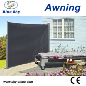 Outdoor Aluminium Polyester Retractable Side Screen Awning (B700) pictures & photos