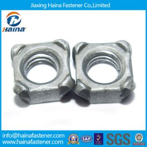 Grade4.8 Carbon Steel Zinc Plated DIN928 Square Weld Nut pictures & photos