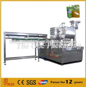 Full Automatic Standing Pouch Filler and Capper pictures & photos