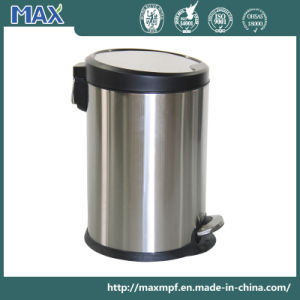 Stainless Steel Braking Foot Pedal Trash Can for Hospital/Hotel/Office pictures & photos