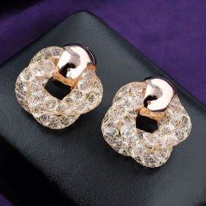 Wholesale Crystal Rhinestone Fashion Mesh Women Lady Stud Earring pictures & photos