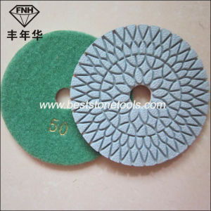 Wd-7 Sunflower Wet Dry Diamond Flexible Grinding Polishing Pad pictures & photos
