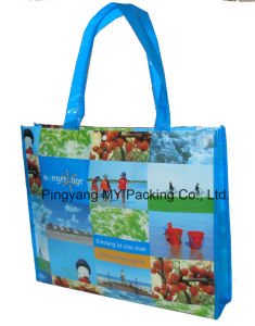 Full Printing Polypropylene Non Woven Lamination Promotion Bag pictures & photos