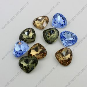 Loose Heart Rhinestone Jewelry Stone for Wholesale pictures & photos