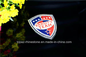 Varsity Team Iron on Crystal Rhinestone Badge (TM-202 varsity team) pictures & photos